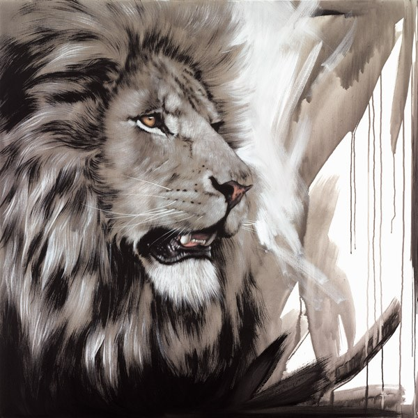 Lion King by Jen Allen - Limited Edition on Canvas sized 26x26 inches. Available from Whitewall Galleries